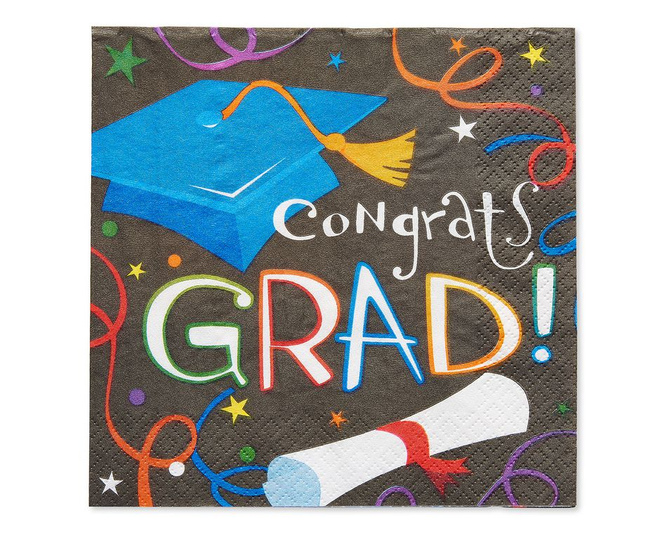 congrats grad lunch napkins 16 ct
