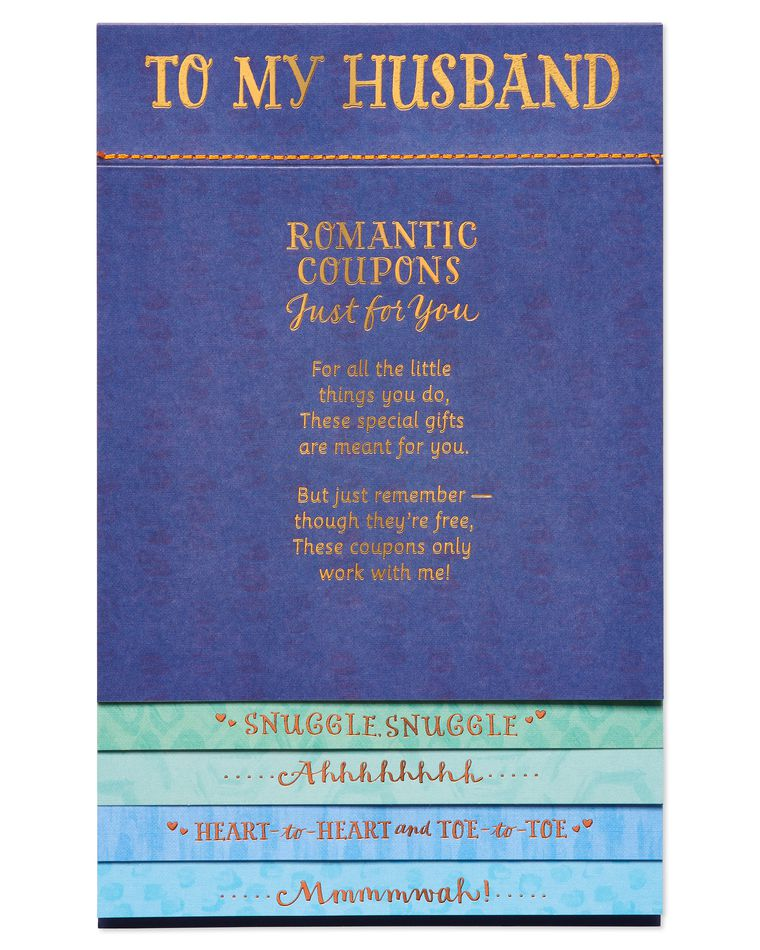 Romantic Coupons Father's Day Card for Husband