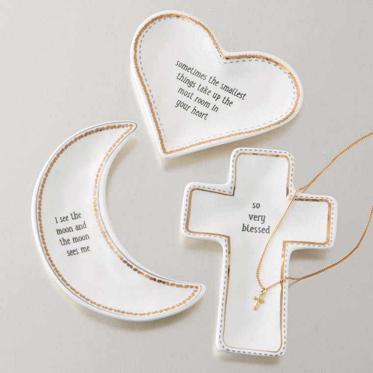 Mud Pie Heart Ceramic Trinket Tray