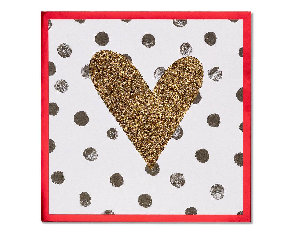 Polka Dot Heart Valentine's Day Card