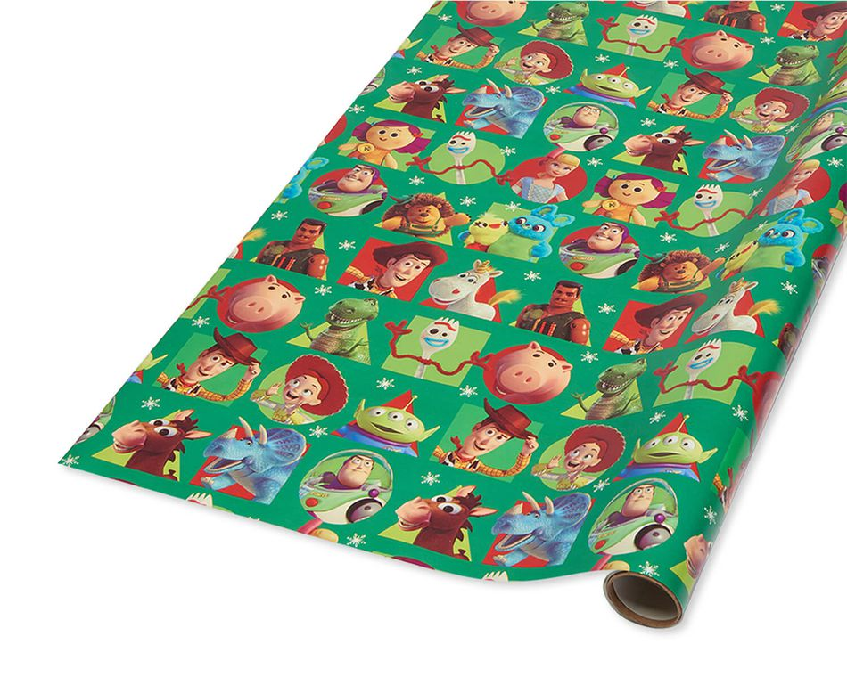 Toy Story Christmas Wrapping Paper, 40 Total Sq. Ft.