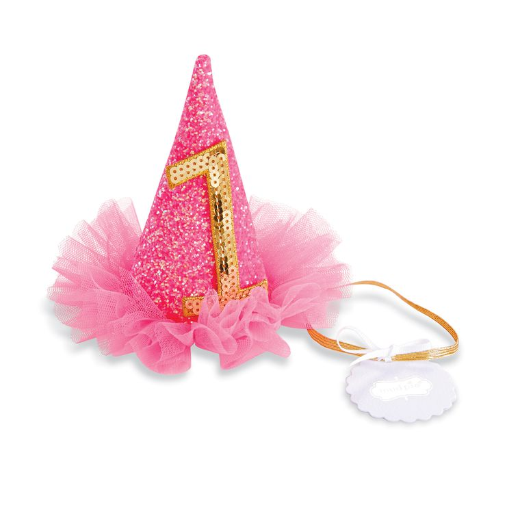 Mud Pie Birthday Girl Pink Glitter Party Hat