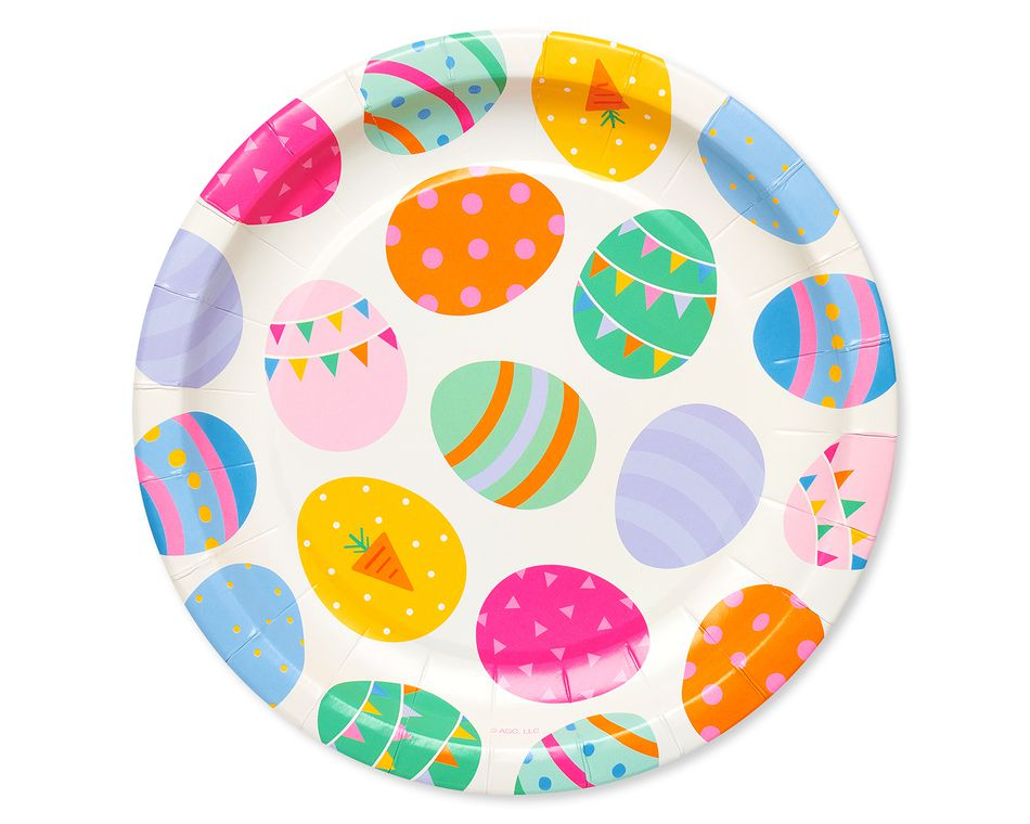 Easter Eggs Paper Dessert Plates, 8-Count