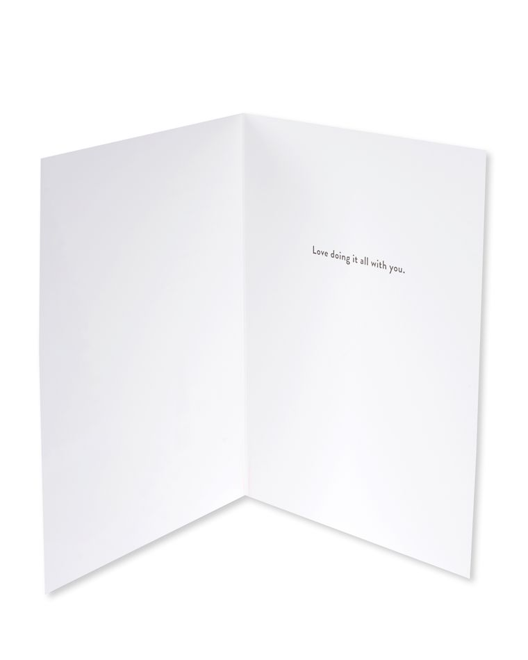 with you romantic christmas card