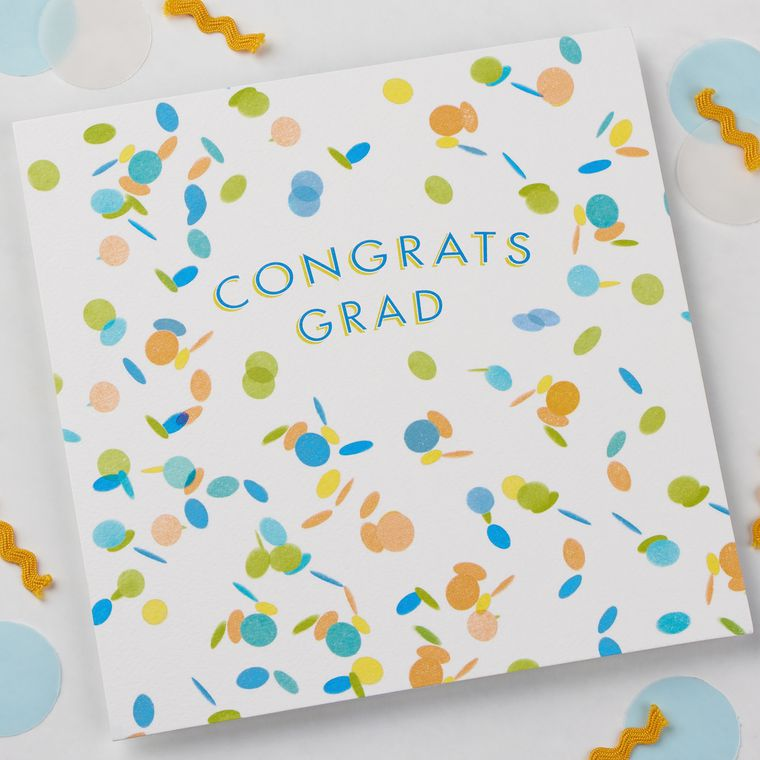 Confetti Graduation Card, 6-Count