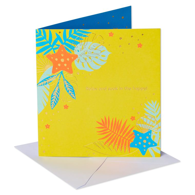 Tropical Pop-Up Birthday Greeting Card