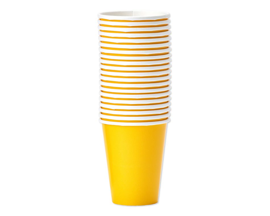 yellow paper cups 20 ct