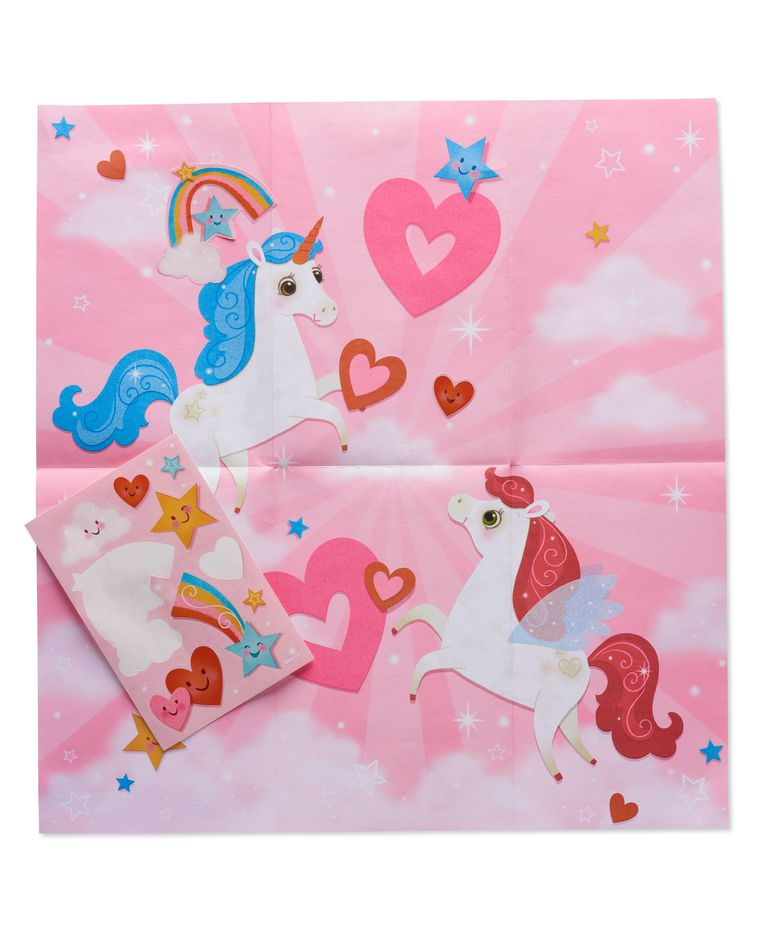 Unicorn Valentine's Day Card for Daughter