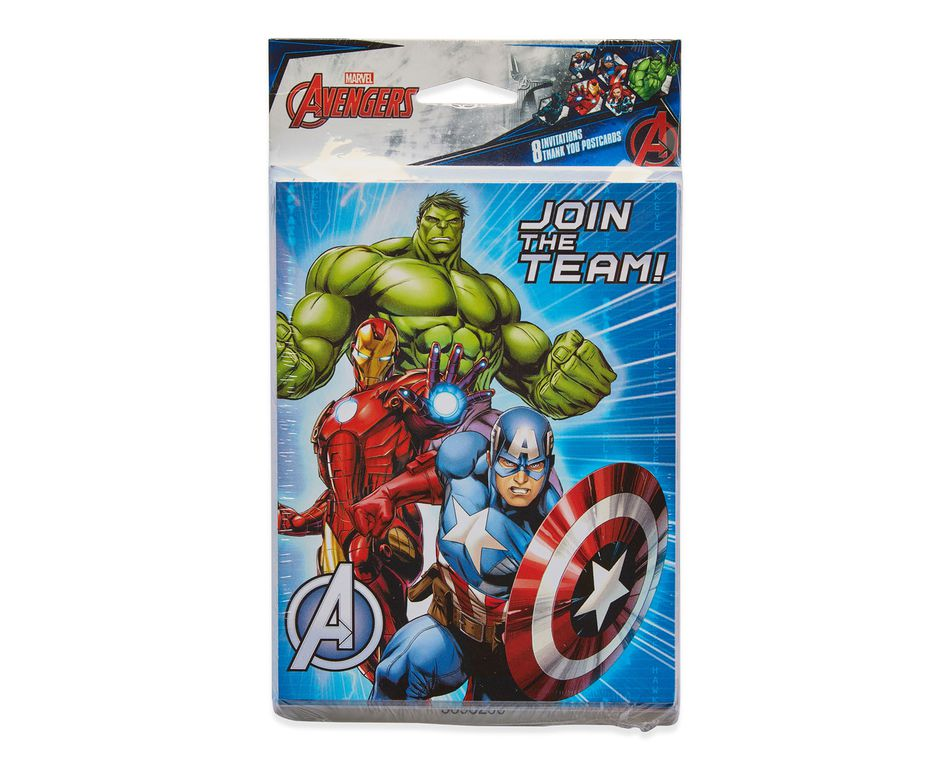 Avengers epic invite and thank you combo pack 8 count american avengers epic invite and thank you combo pack 8 count party supplies m4hsunfo
