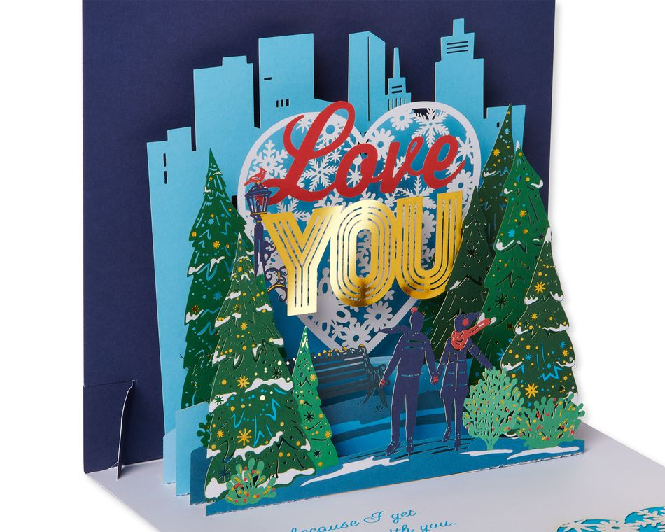 Wonderful Time Of The Year Pop-Up Christmas Greeting Card