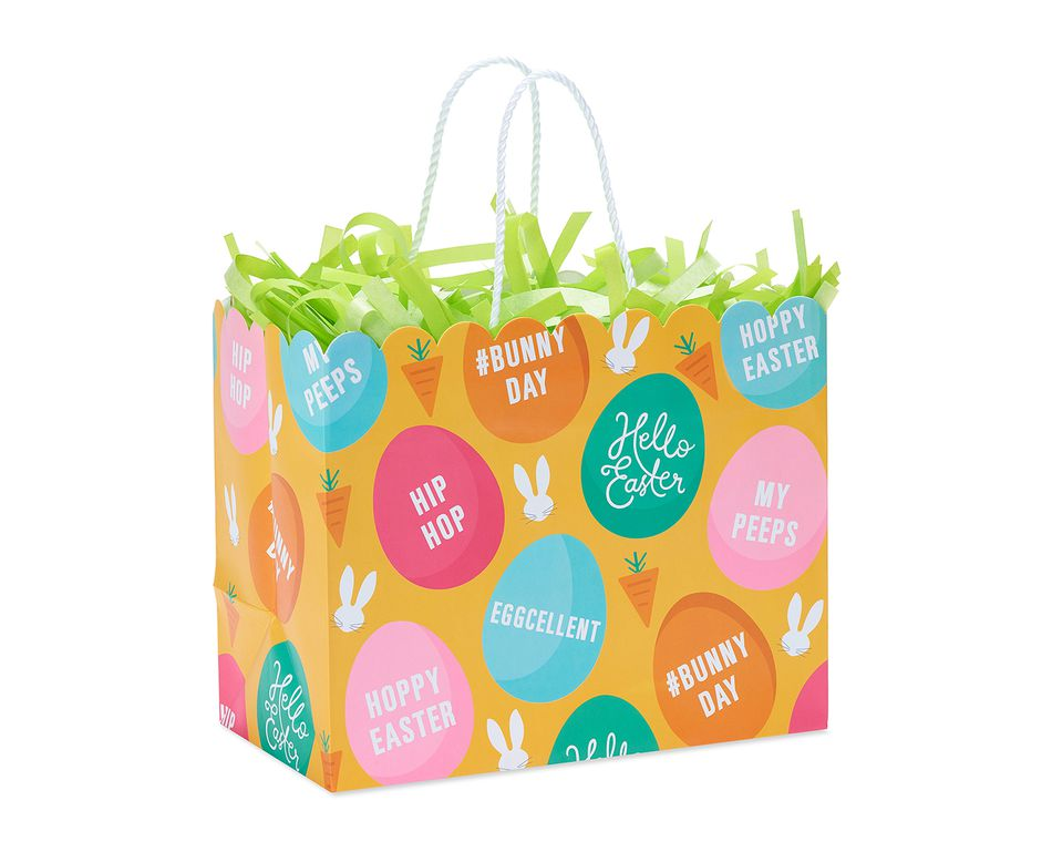 Medium Easter Bunny Day Gift Bag with Tissue Shred