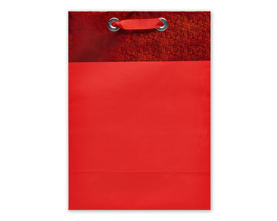 jumbo red metallic gift bag