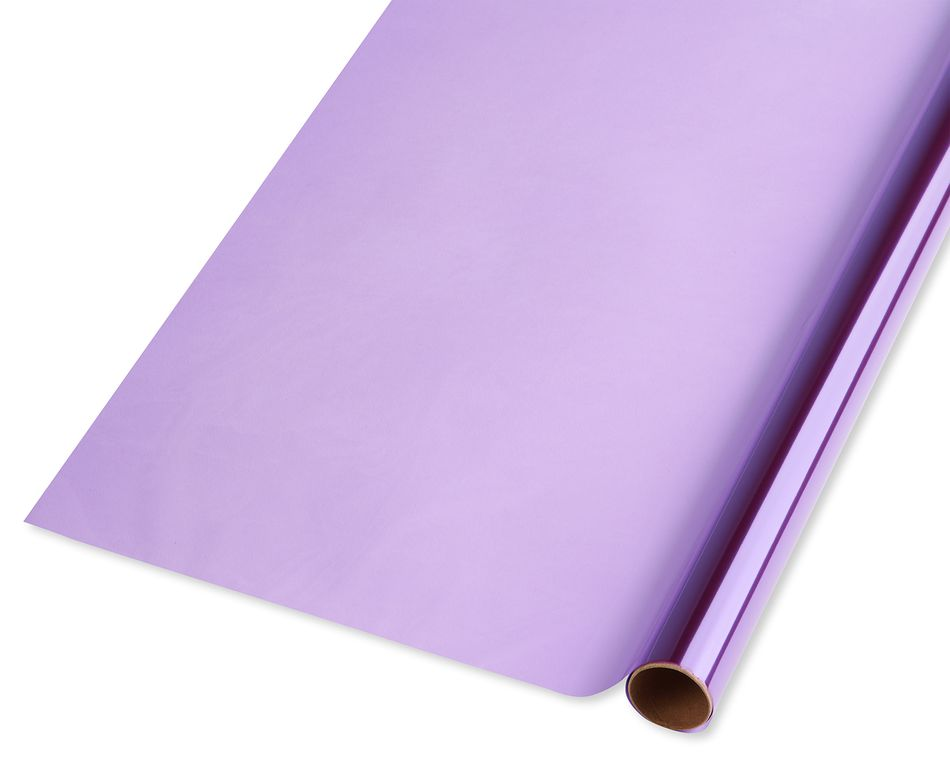 Purple  Cellophane Wrapping Paper, 2.5 ft x 3.33 yd, 25 Sq. Ft. Total