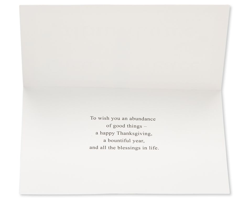 Religious Grace and Peace Thanksgiving Card, 6-Count