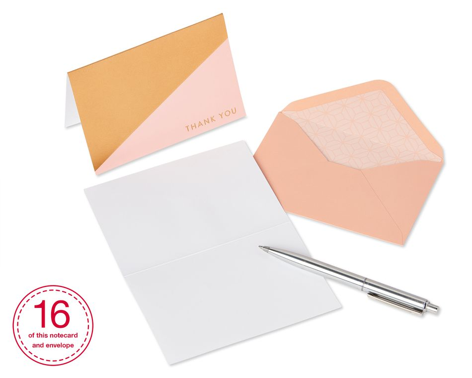 Geometric Boxed Thank You Cards and Envelopes, 14-Count