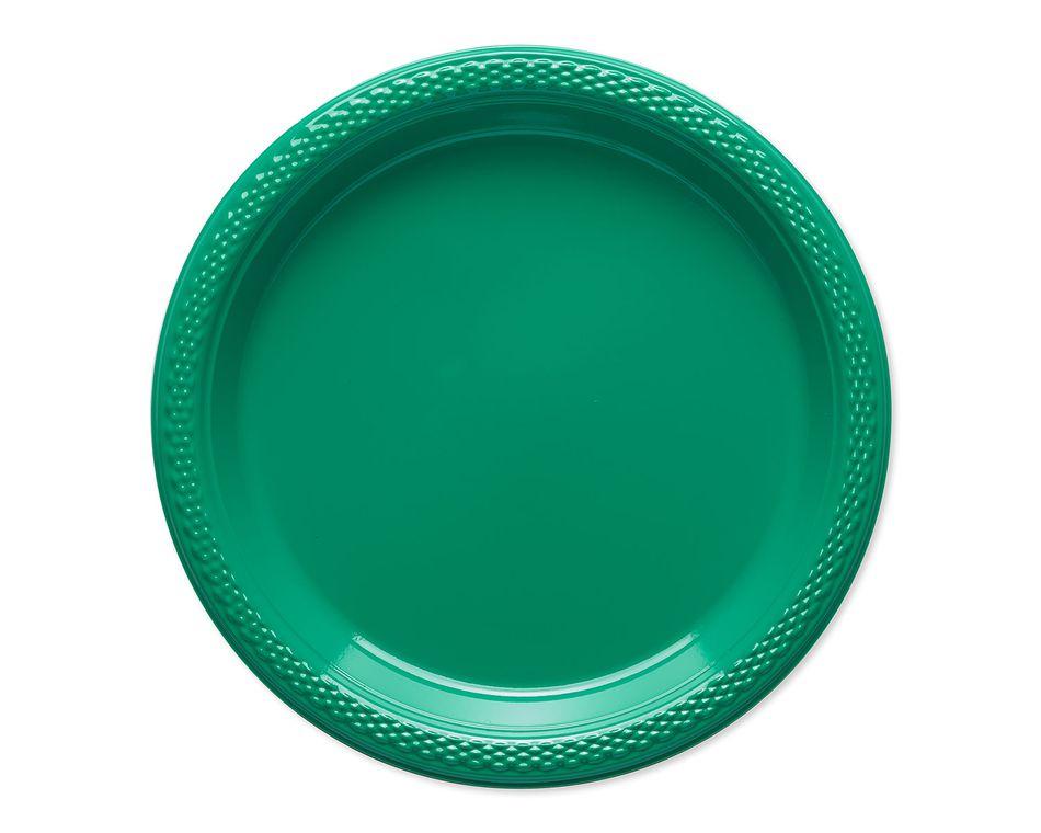 festive green dessert plates 20 ct