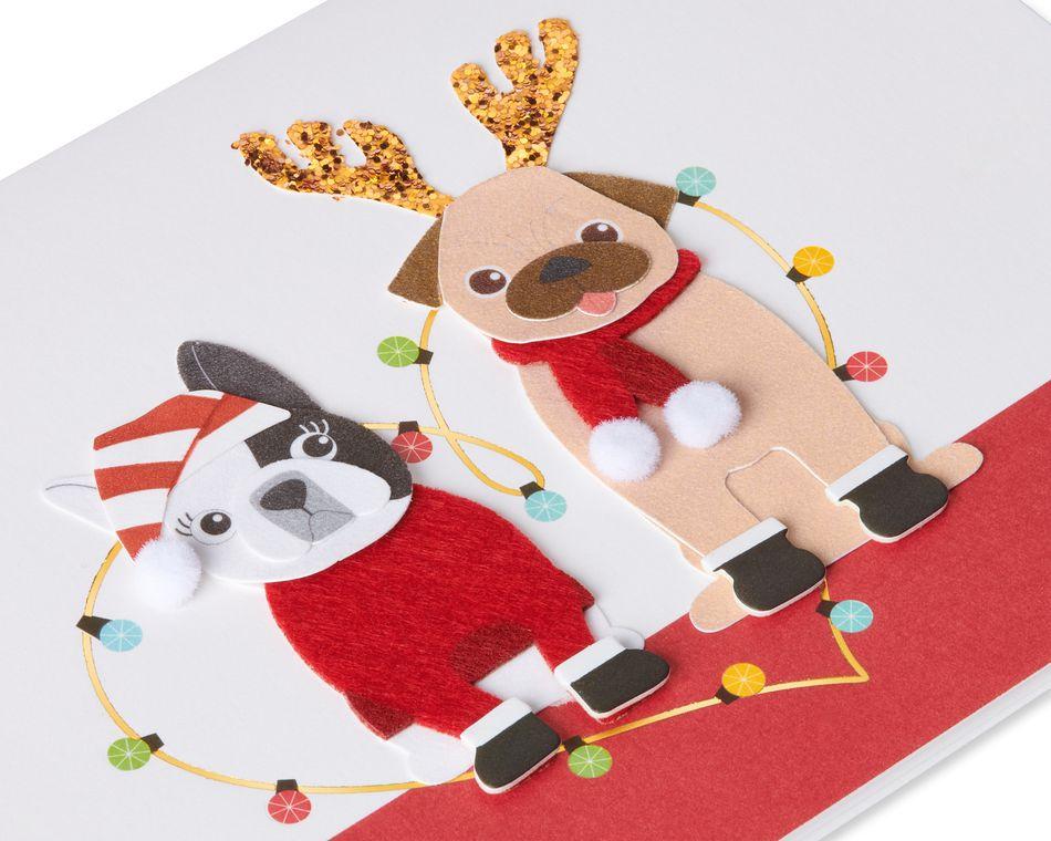 Christmas Dogs Christmas Greeting Card
