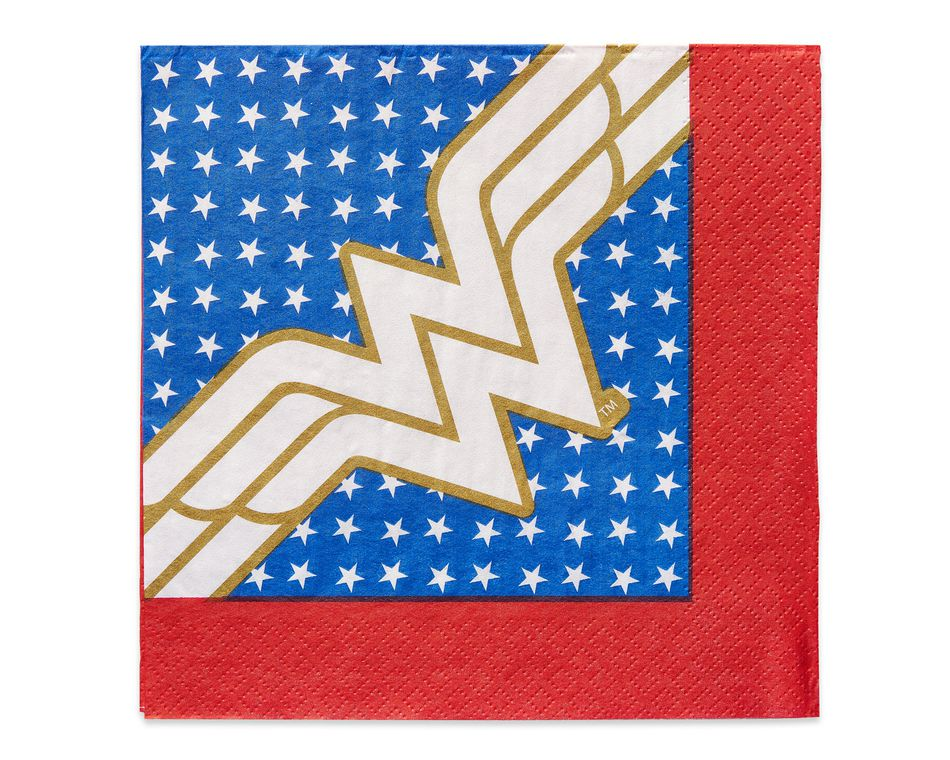 Wonder Woman 16-Count Lunch Napkins