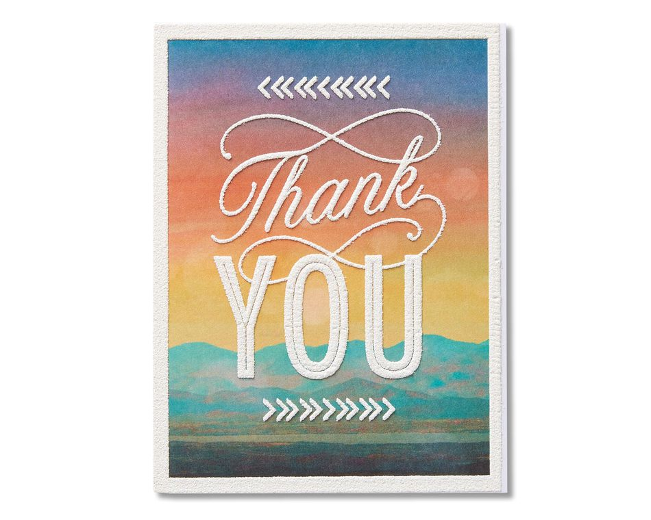 Mountain Scene Thank You Card