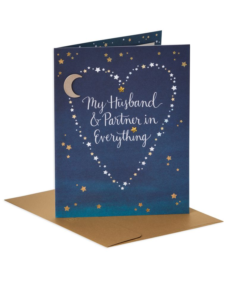 Starry Valentine's Day Card for Husband