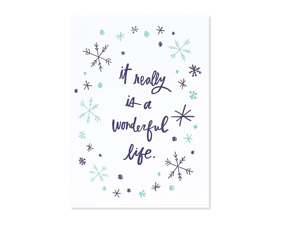 wonderful life romantic holiday card