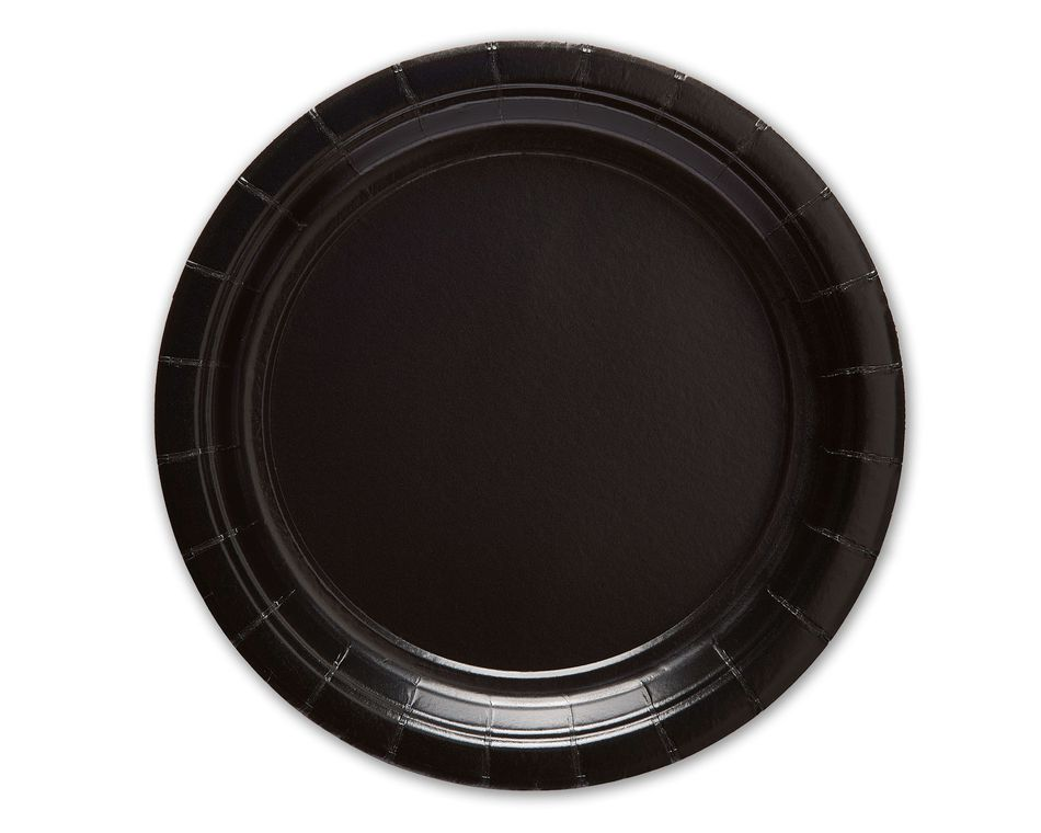 Black Dessert Paper Plate, 20 Count