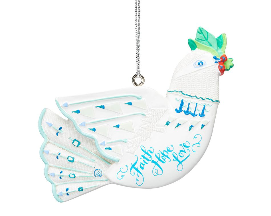 White Dove Christmas Ornament