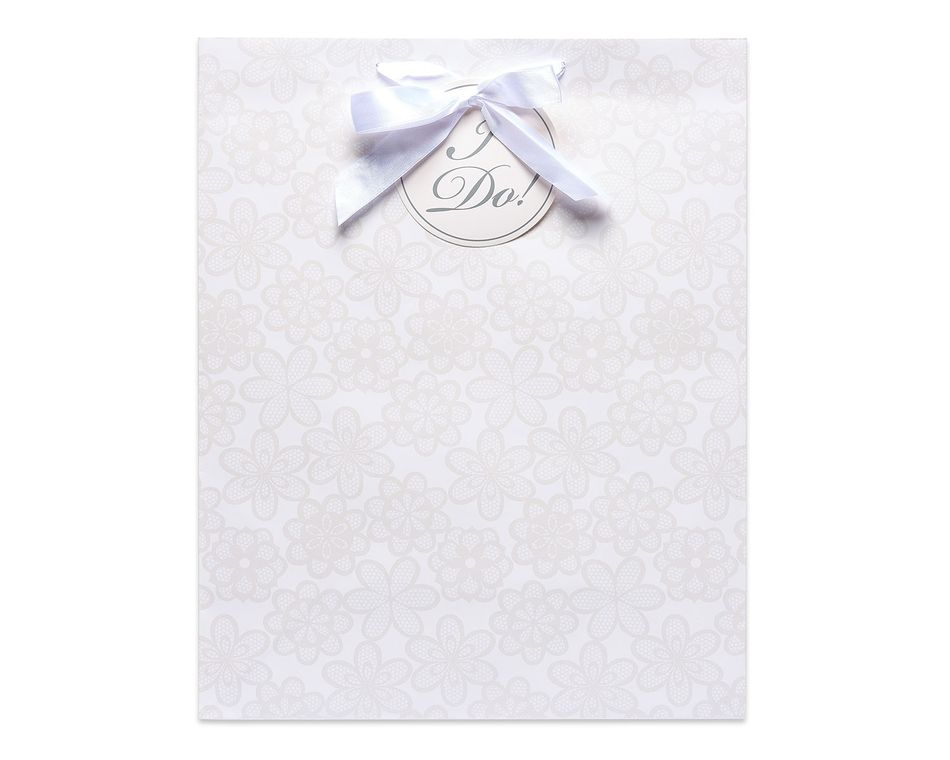 large I do lace wedding gift bag