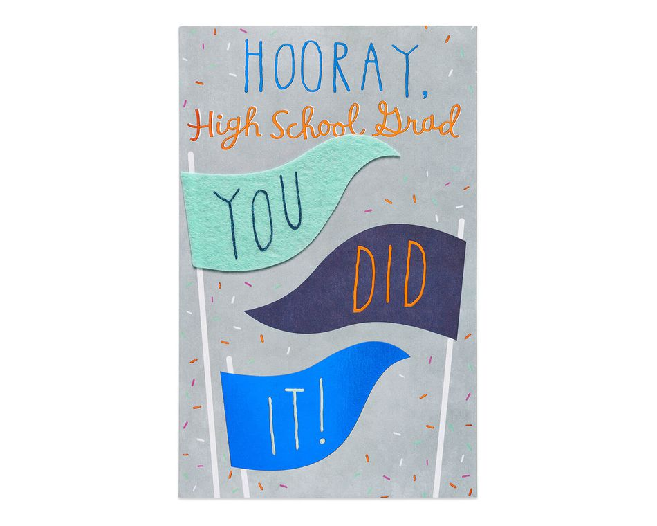 Hooray High School Graduation Card
