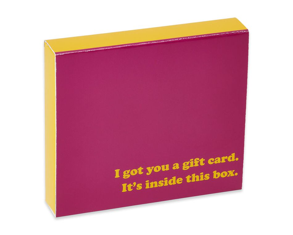 No Surprise Here Gift Card Holder Box