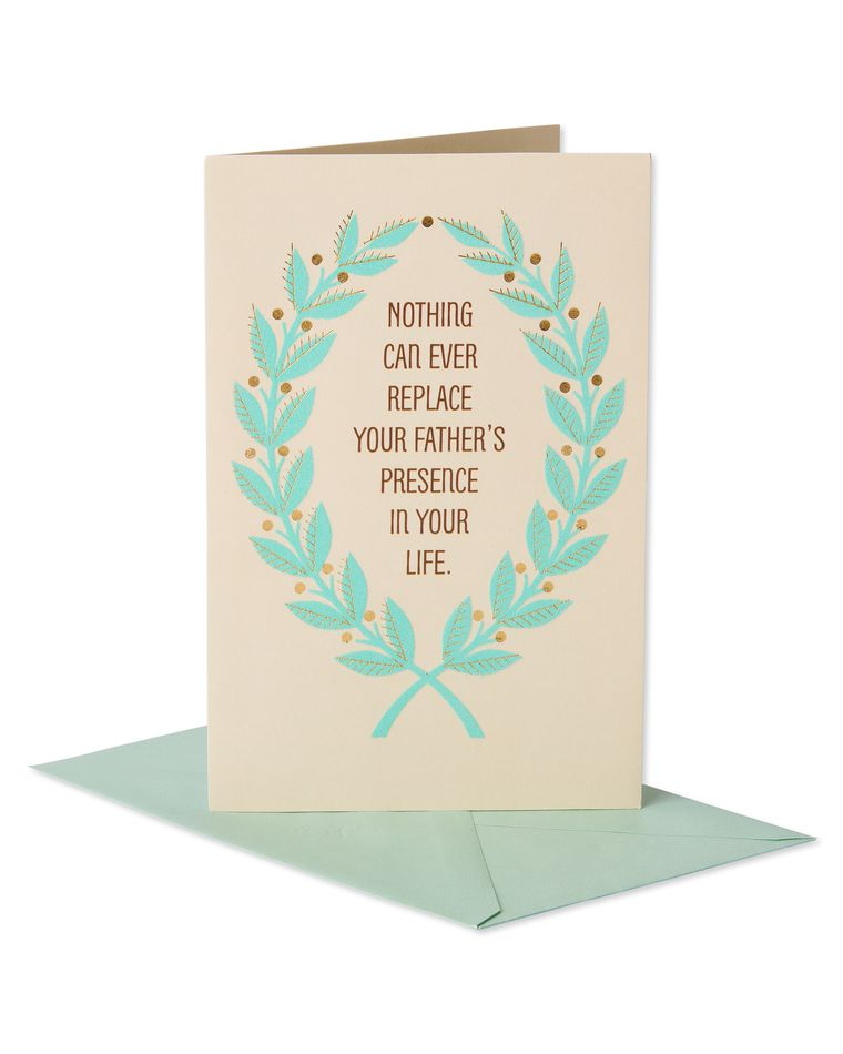 Father's Presence Sympathy Card