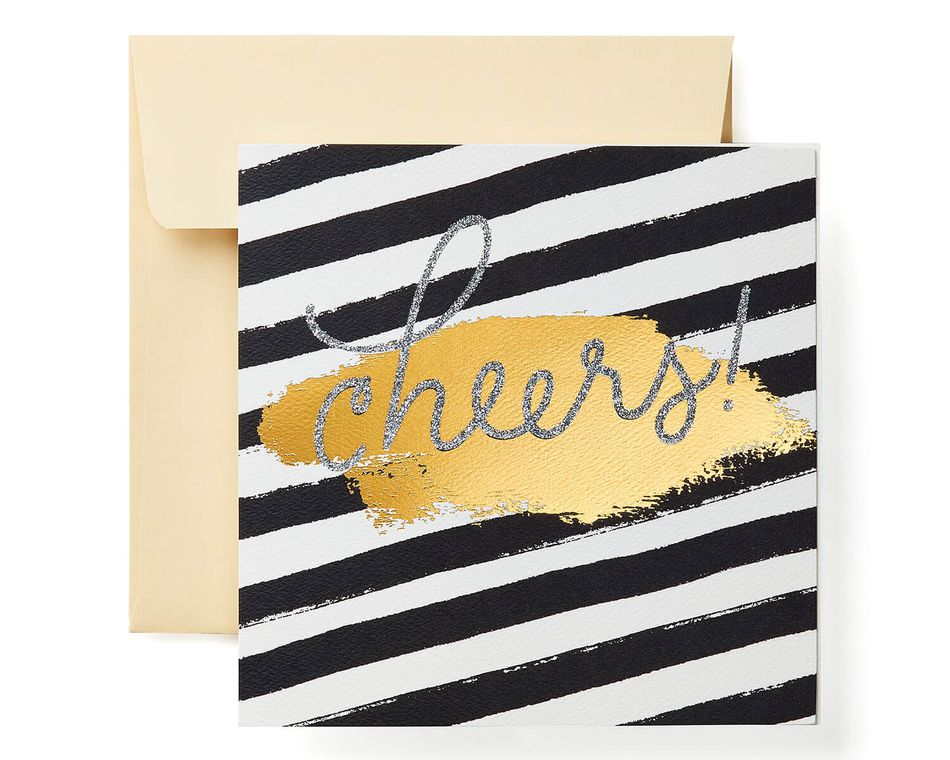 Cheers Greeting Card - Christmas, Happy Holidays, Happy New Year