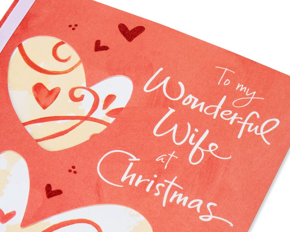 Religious Hearts Christmas Card for Wife