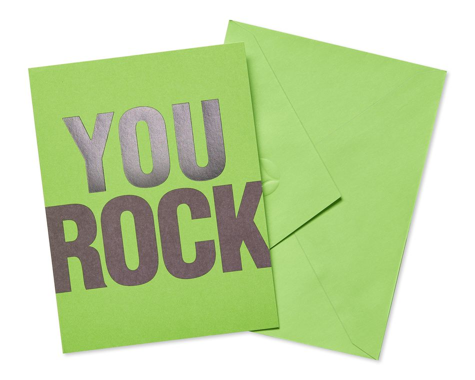 Green Thank You Cards and Green Envelopes, 10-Count