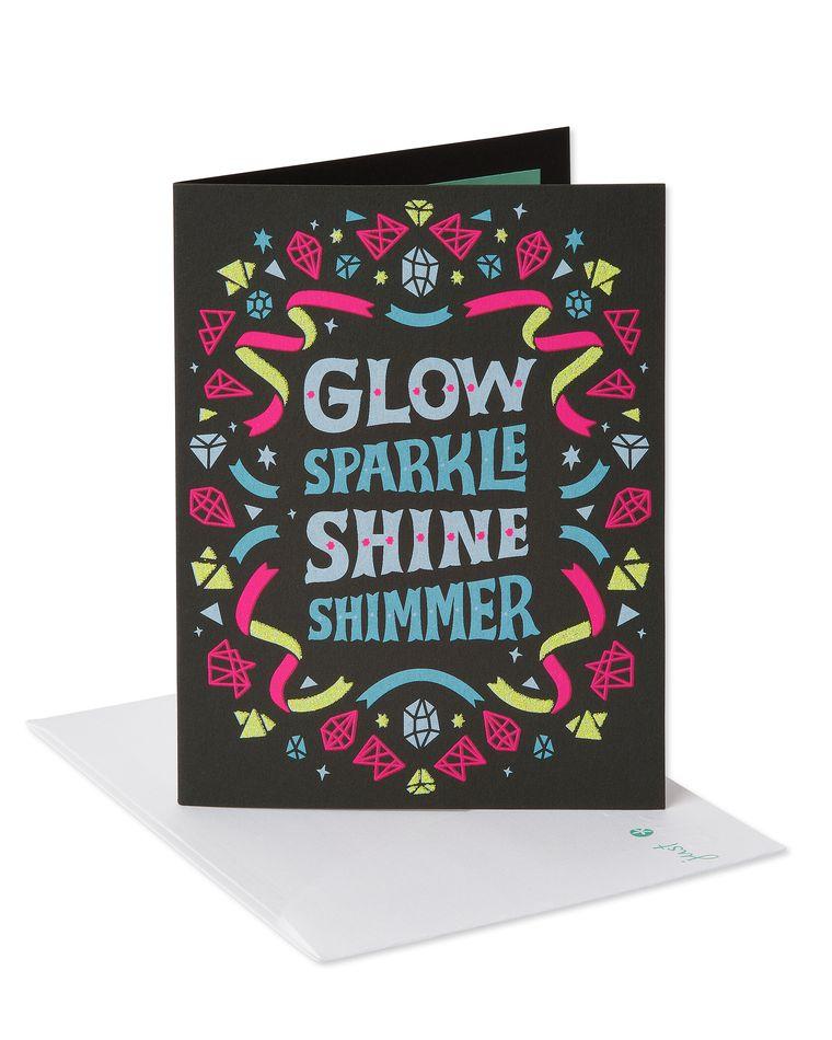 Glow Sparkle Shine Shimmer Birthday Card