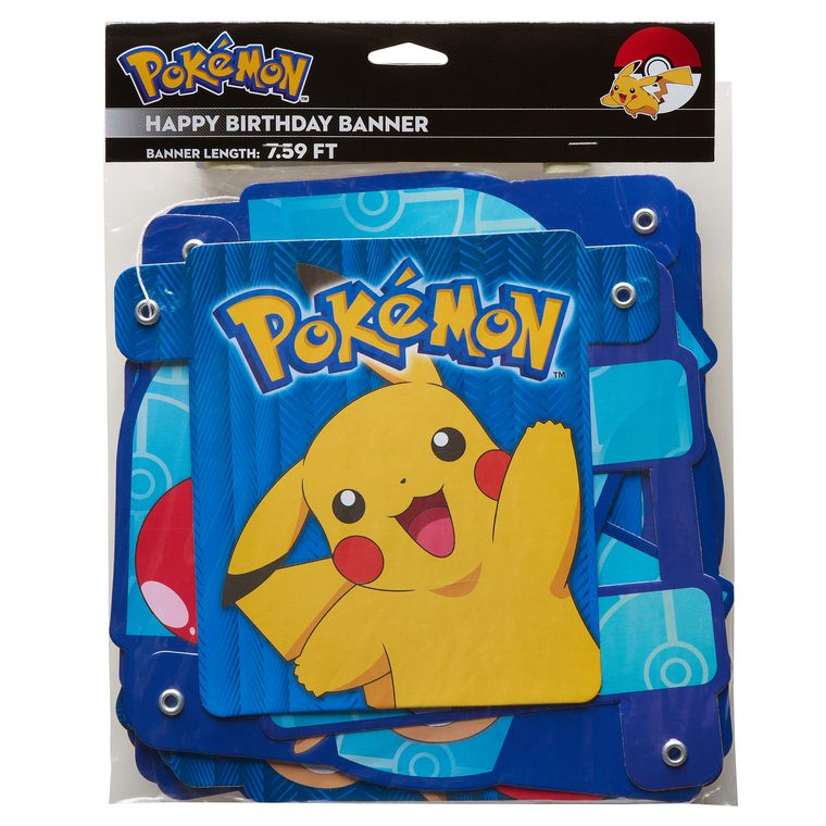 Pokémon Birthday Party Banner, Party Supplies