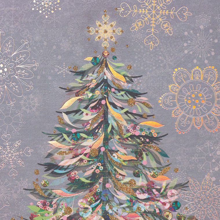 Festive Tree Holiday Boxed Cards, 14-Count