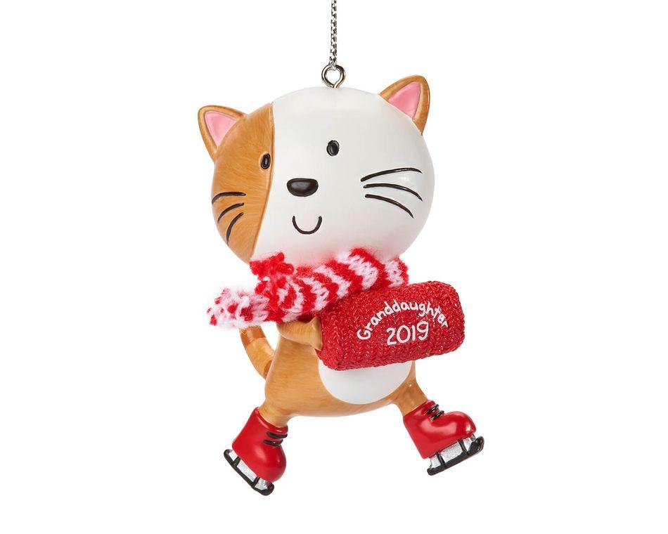 Granddaughter Cat Christmas Ornament