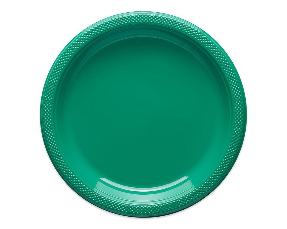 festive green dinner plates 20 ct