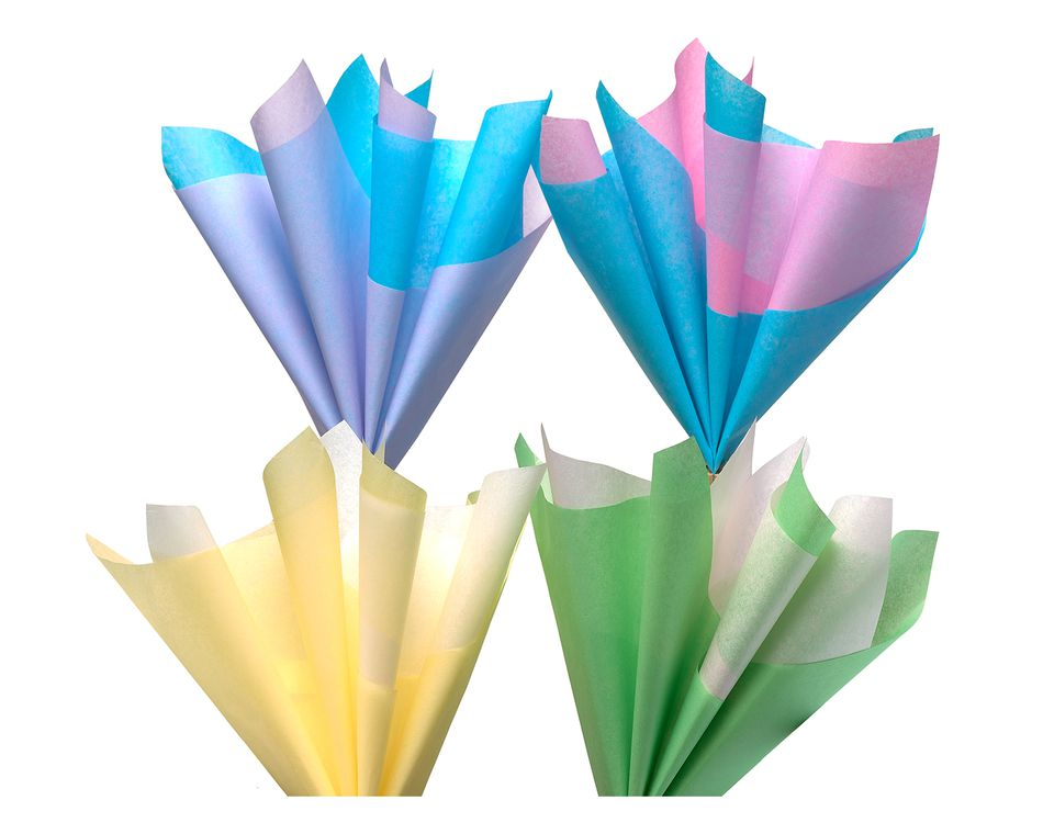 pastel multi-colored tissue paper 40 sheets