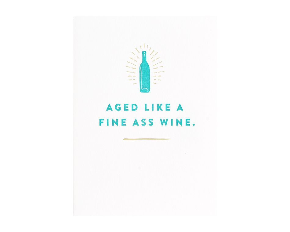 Fine Wine Birthday Card