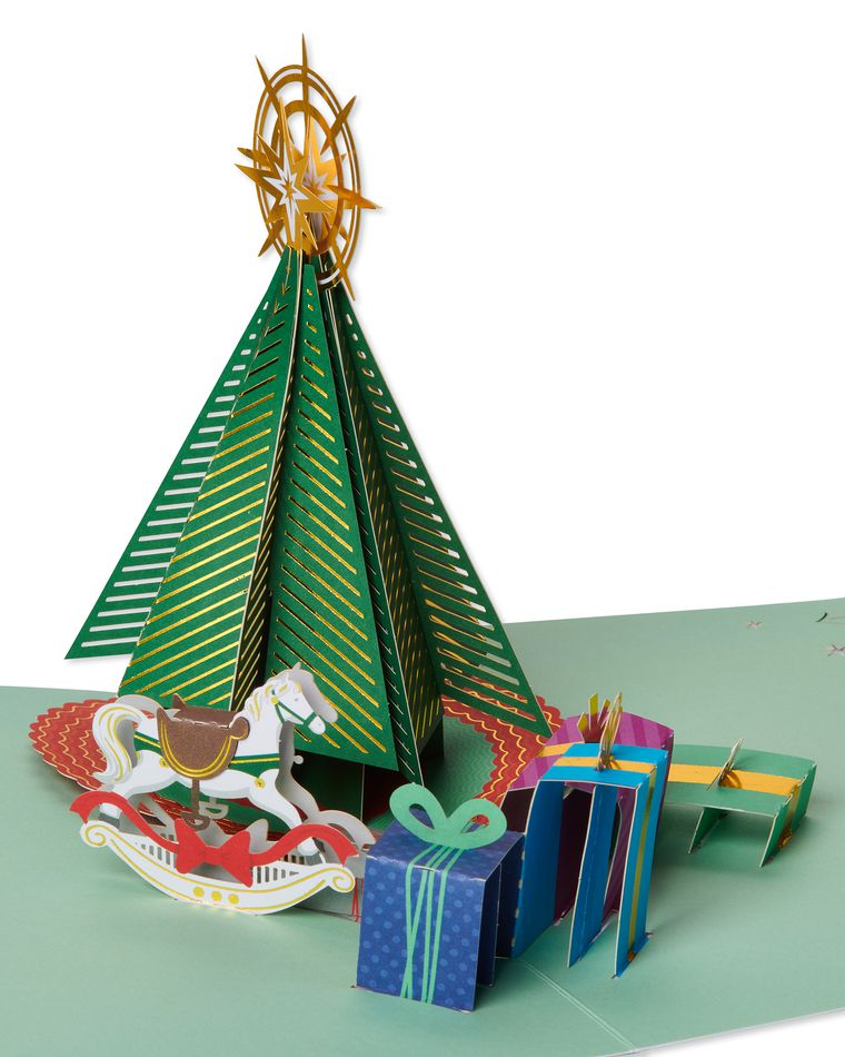 Tree and Presents Pop-Up Christmas Greeting Card