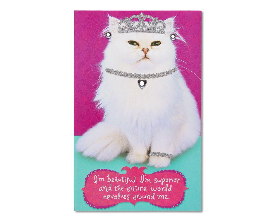 inner cat birthday card