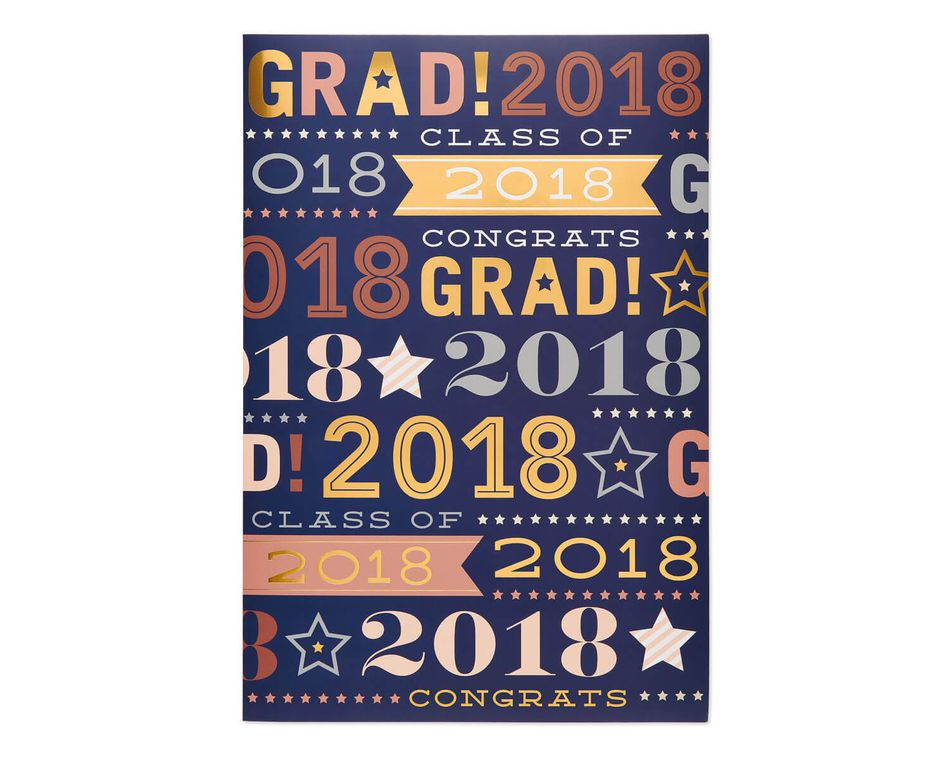Jumbo 2018 graduation card american greetings jumbo 2018 graduation card m4hsunfo
