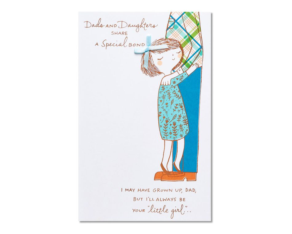 your little girl father's day card from daughter