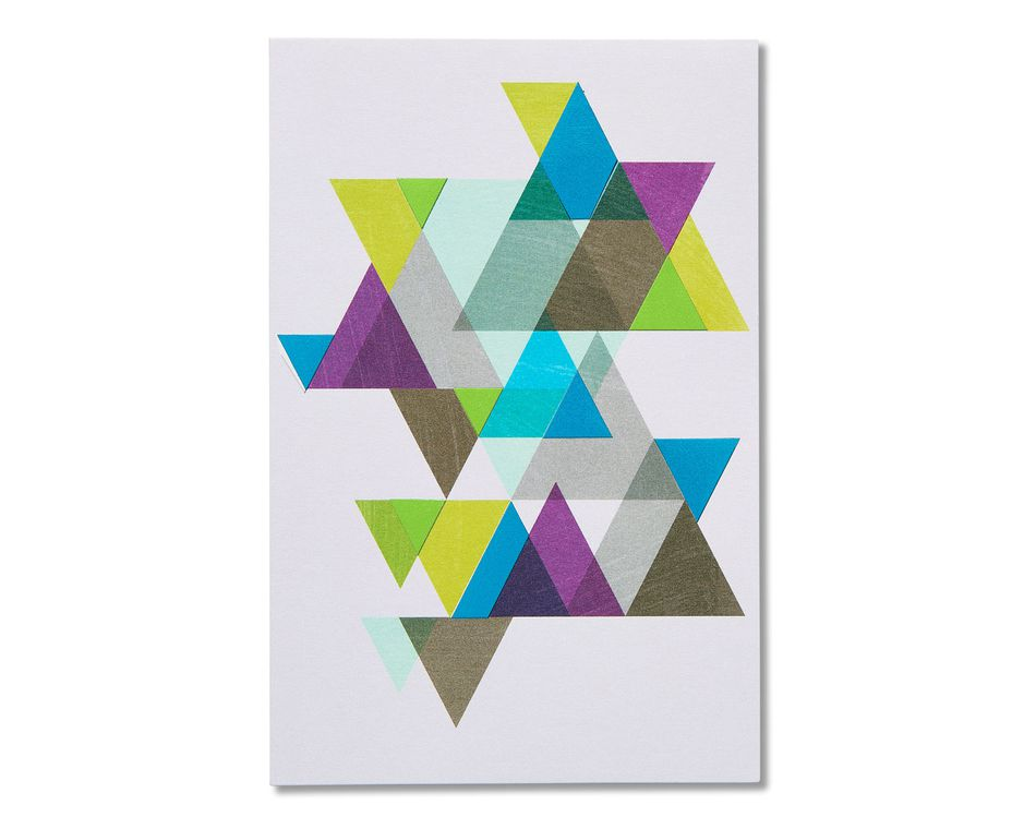 geometric thinking of you cards, 6-count
