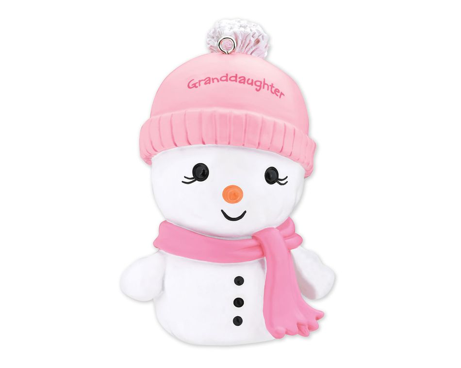 Granddaughter Snowman Christmas Tree Ornament
