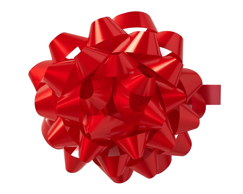 large red ribbon bow