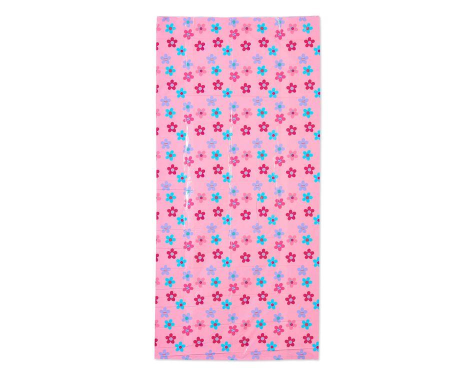 Jumbo Plastic Pink Daisies Gift Bag