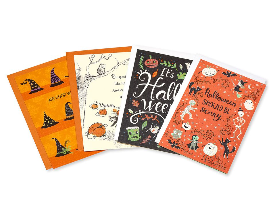 Halloween Greeting Card Bundle, 4-Pack